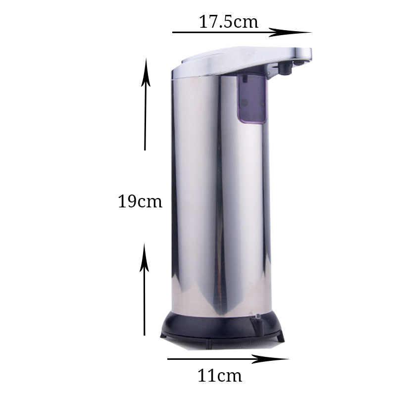 250ml ABS automatyczny dozowniki mydła w płynie na podczerwień inteligentny czujnik bezdotykowy dozownik środka dezynfekującego do domu kuchnia łazienka Hotel
