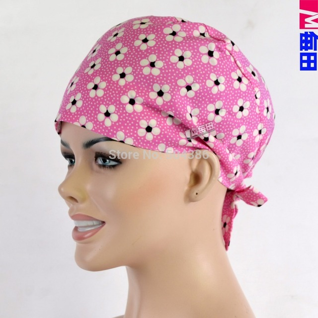 NEW Matin long hair surgical caps with sweatband doctors and nurses 100%  cotton 39b38a9f4b24