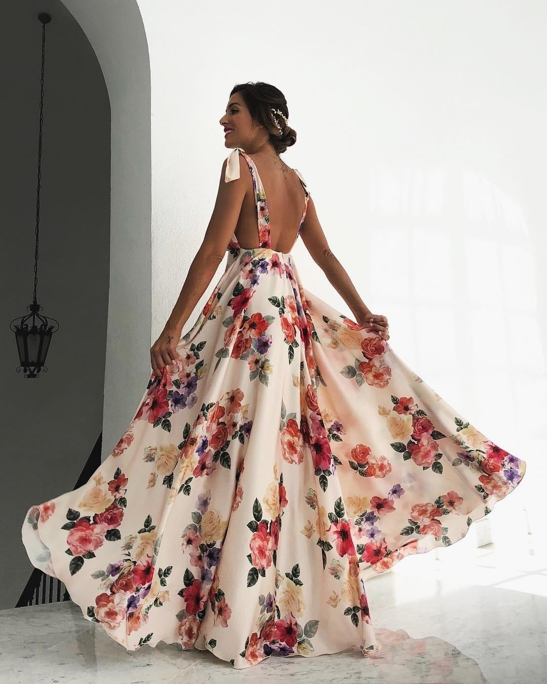 cb3fd36ba53 Loneyshow 2018 Summer Dress Flower Printing Sleeveless maxi Dress ...