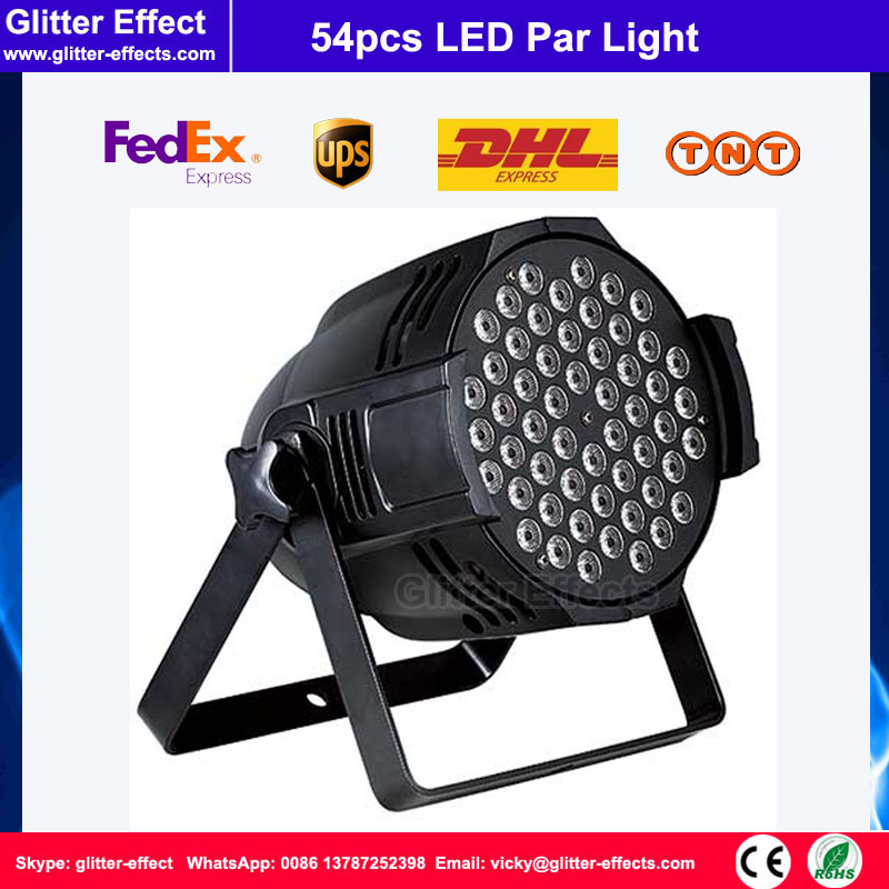 Good quality DJ Disco club 54pcs 3W led par light RGB color led par light Stage party Effect Light