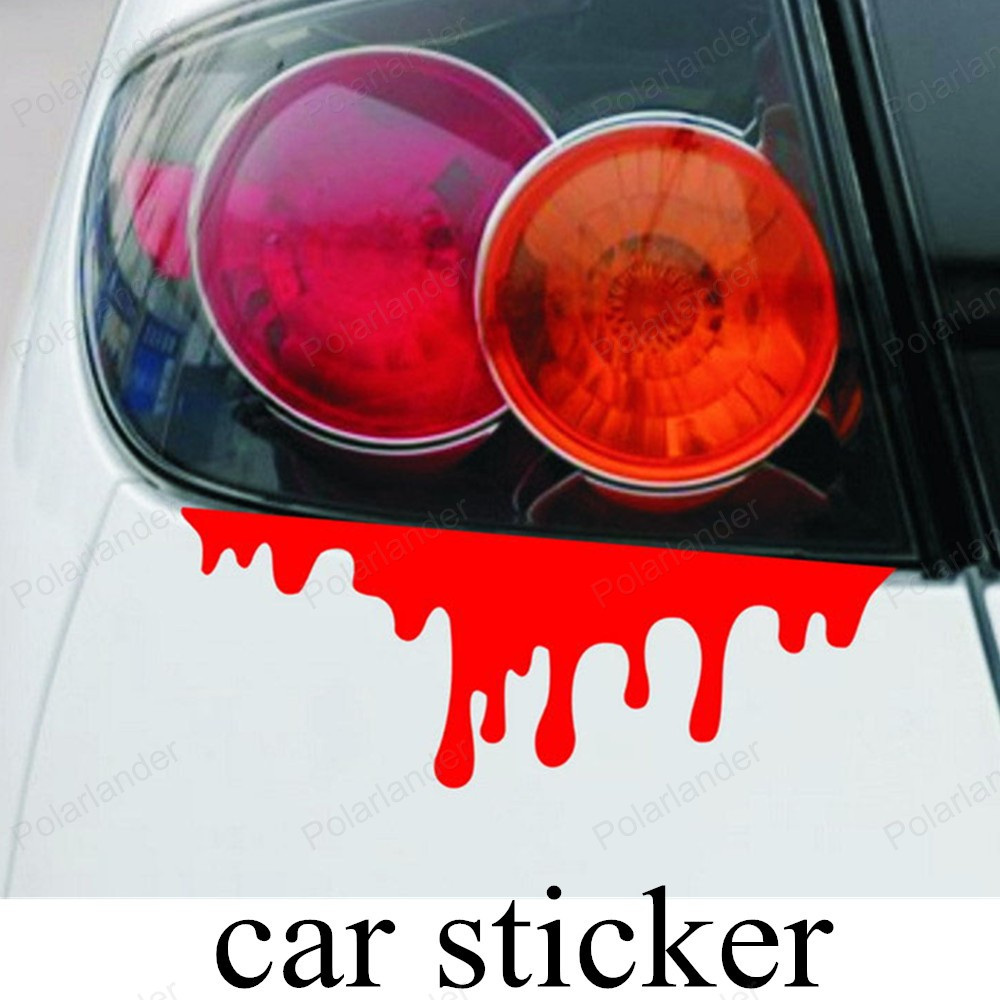 Car body sticker design for sale - Newest Reflective Car Decals Rear Front Headlight Sticker New Design 2016 Hot Blood Bleeding Car Stickers