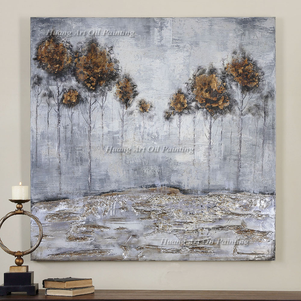 Hand Painted Modern Abstract Rich Tree Art Painting Modern Landscape Canvas Paintings for Home or Hotel Wall Decoration in Painting Calligraphy from Home Garden