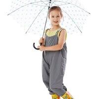Unisex bambini pioggia pantaloni divisione outdoor impermeabili ragazze dei ragazzi polyesterwaterproof tuta pagliaccetto spedizione gratuita