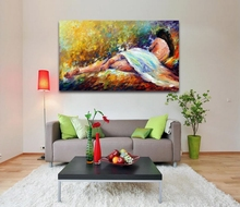 100% Handpainted Oil Painting on Canvas Sexy Nude Women Canvas Painting Unframed Palette Knife Wall Picture for Living Room