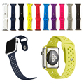L size 42mm Fashion Breathable with holes sport silicone Band for apple watch Series 1/2 Strap for Apple Watch 42mm bands