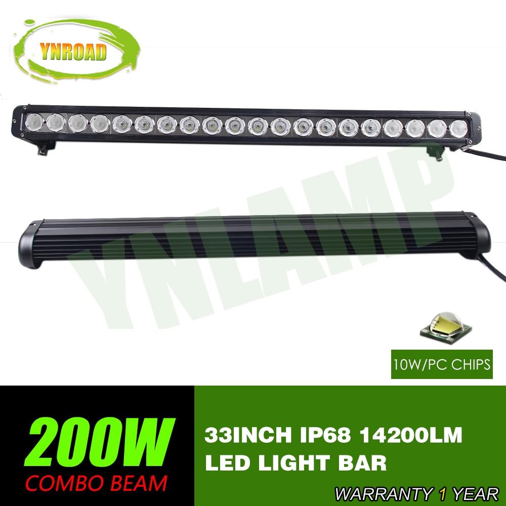 YNROAD 33 palců 200 W jednořádkový LED světelný pruh Jízda v terénu Light Spot / povodeň / combo 10V- 70V 14200LM pro 4x4 ATV UTV USE IP68