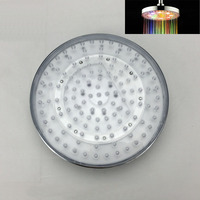 HOT SELL Newest 8 Inch Round LED Rainfall Top Shower Head 7 Colors Automatic Changing Or