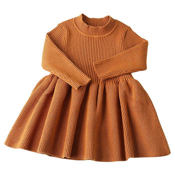 2019 Spring and Autumn Girls Korean Knitting European and American Girls Dresses
