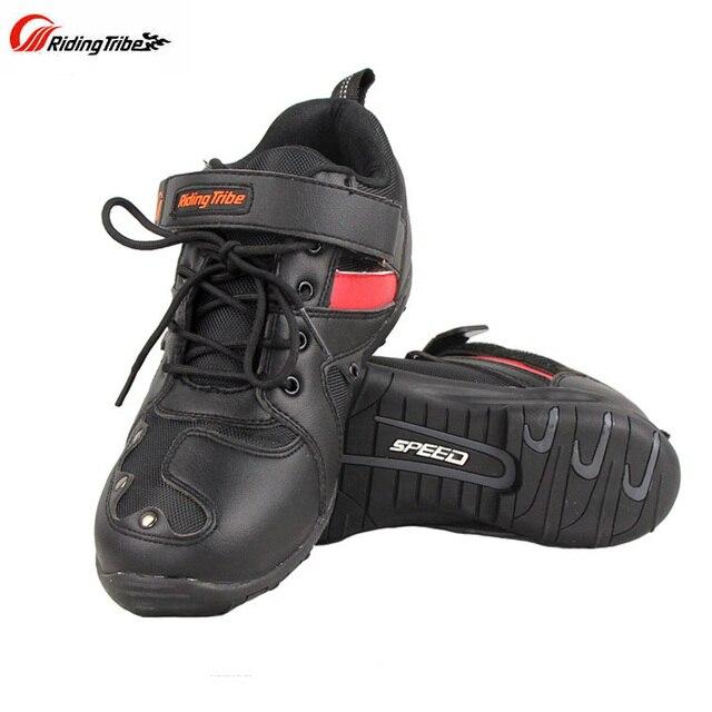 Yeni Sürme Kabile Motosiklet yarış ayakkabıları Off-road Scooter Motosiklet Motocross binici çizmeleri Motos Botas Motocicleta Chuteiras