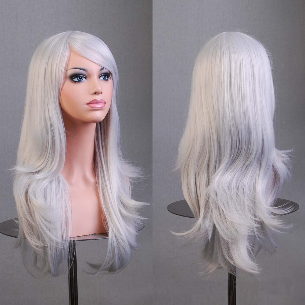 Hot Hatsune Miku Anime Wig Synthetic Hair Long Curly Wave peluca Cosplay Wig Gray Nicki minaj wig Perruque peruca femininas