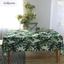 Free Shipping Green Big Leaves Tablecloth Cover Toalha De Mesa Nappe Rectangulaire Concise Manteles Para Tafelkleed