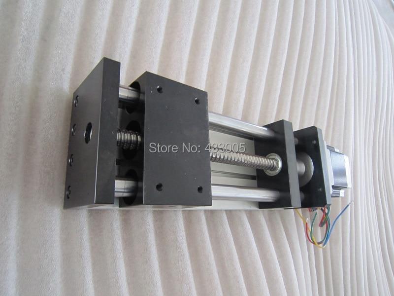 CNC GGP 1605  ballscrew  Sliding Table effective stroke 300mm Guide Rail XYZ axis Linear motion+1pc nema 23 stepper  motor hgr20 linear guide width 20mm length 700mm with hgh20ca linear motion slide rail for cnc xyz axis 1pcs