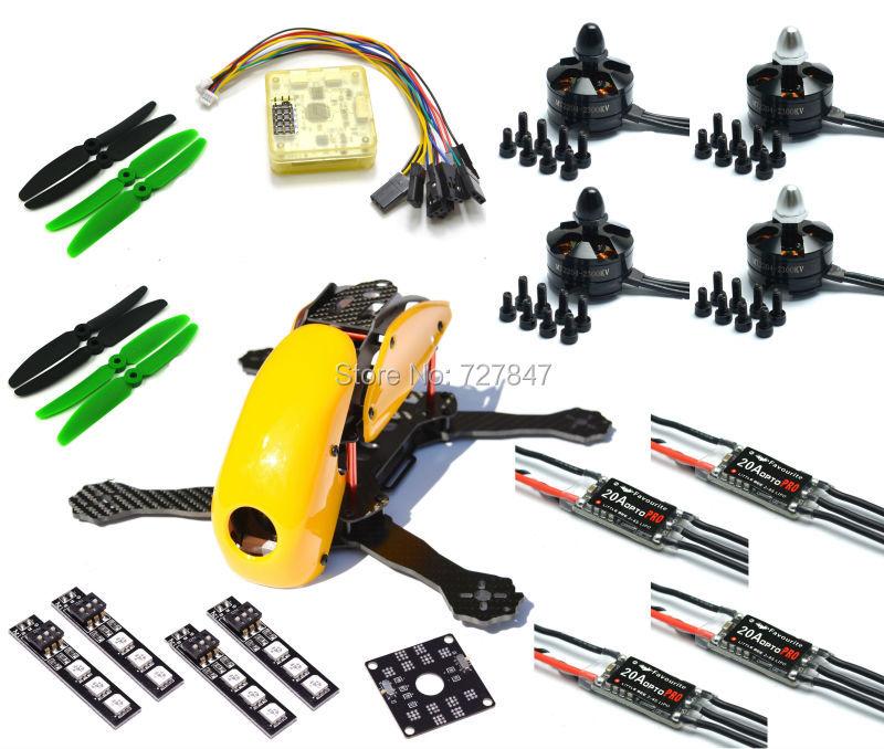 Carbon Fiber Robocat 270mm 270 Quadcopter CC3D EVO Controller MT2204 2204 Motor LittleBee 20A OPTO PRO/ 12A  ESC 5030 Prop