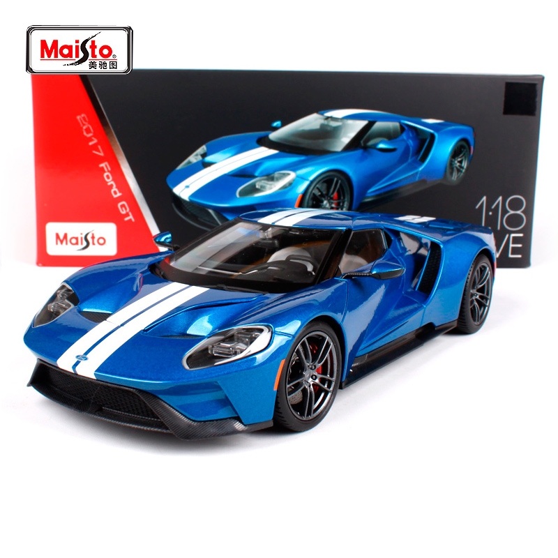 Maisto 1:18 2017 Ford GT Sports Car Hardback Diecast Model Car Toy New In Box Free Shipping 38134 maisto 1 18 mini cooper sun roof diecast model car toy new in box free shipping 31656
