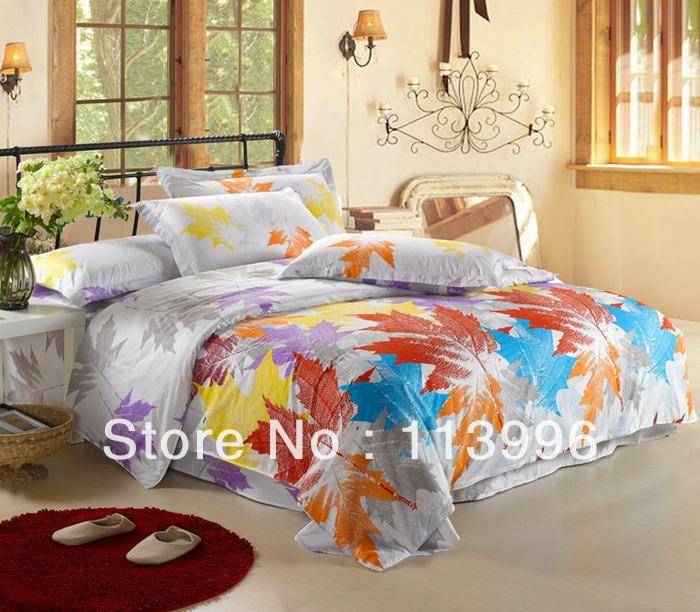 Maple Leaves Autumn Story Bedding Set Queen Size Comforter