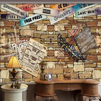 Free Shopping Custom 3D Stereo Retro Stone Wall Mural Living Room Bathroom Restaurant Corridor HD Wallpaper
