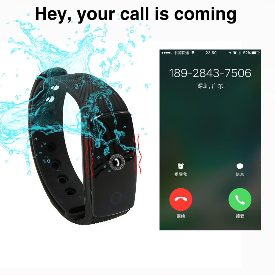 A9 Für Smart Band Smartband Pulsmesser Armband Fitness Armband für Android iOS PK xiomi mi Band 2 fitbits smart ID107