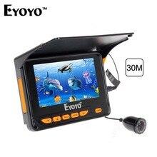 Eyoyo 30М Рыбоискатель Подводная видеокамера для рыбалки Эхолот с ЖК-дисплеем IR LED 10шт. Солнцезащитный козырек 150 Градусов