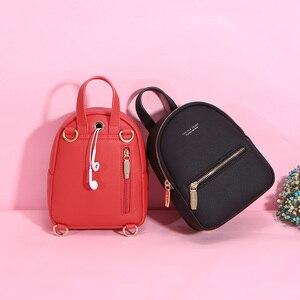 Image 3 - Weichenデザイナーファッション女性バックパックソフトレザー女性スモールバックパック女性のショルダーバッグmochilaバックパック 2020 bagpack