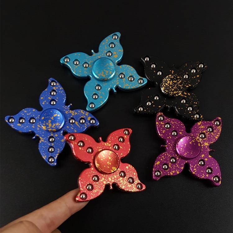 2017 Fidget Spinner Finger Toy Aluminum alloy Anti Stress EDC Handspinner Christmas Toys for Children Butterfly