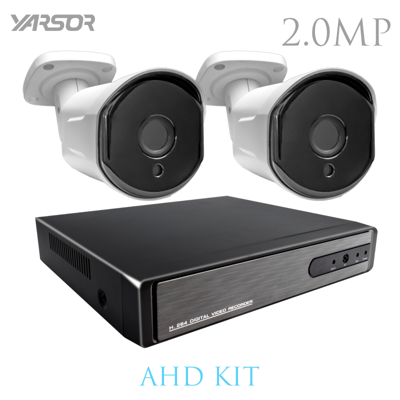 AKT2002LE CCTV Camera DVR System AHD 1080P Kits 2CH CCTV DVR HVR NVR 3 in 1 Video Recorder Infrared Dome Camera Security yves rocher yves rocher бальзам ополаскиватель для питания с овсом и миндалем