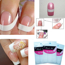 DIY Line Tips 48PCS White Nail Decal French Manicure Strip Nail Art Form Fringe Guides Water Transfer Sticker