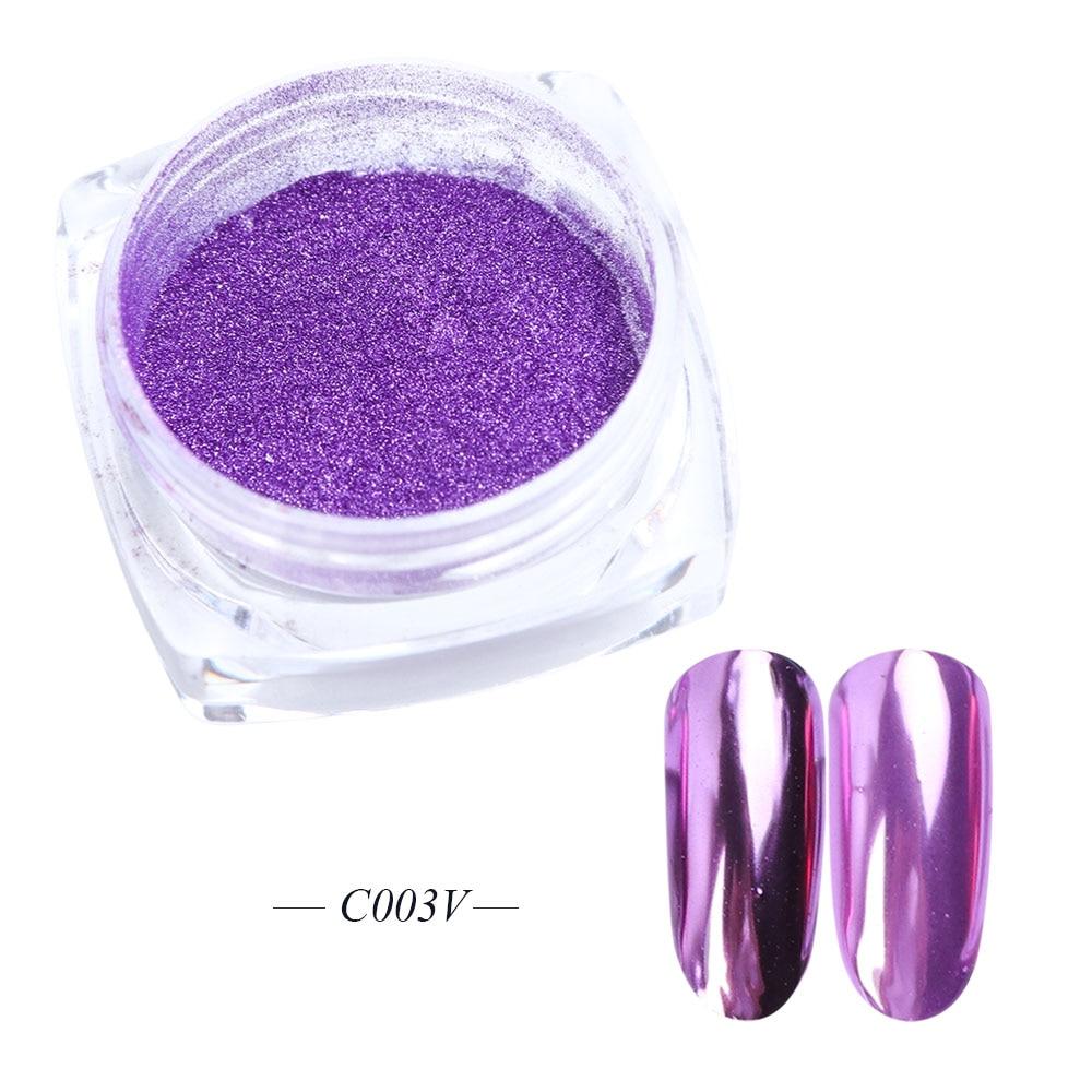 Зеркальный лак для ногтей, порошковая голографическая металлическая розовые, золотые, серебряные пылезащитные блестки, УФ-гель для ногтей, хромированное пигментное украшение CHC/ASX - Цвет: C003V