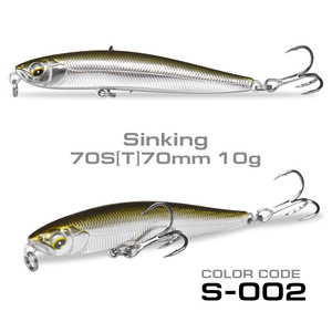 70mm10g Wobbler Sinking Lure Stickbait Minnow Fishing Lure Rolling 4.3g Floating Pencil Lure Fishing Tackle For Sea Bass Fishing