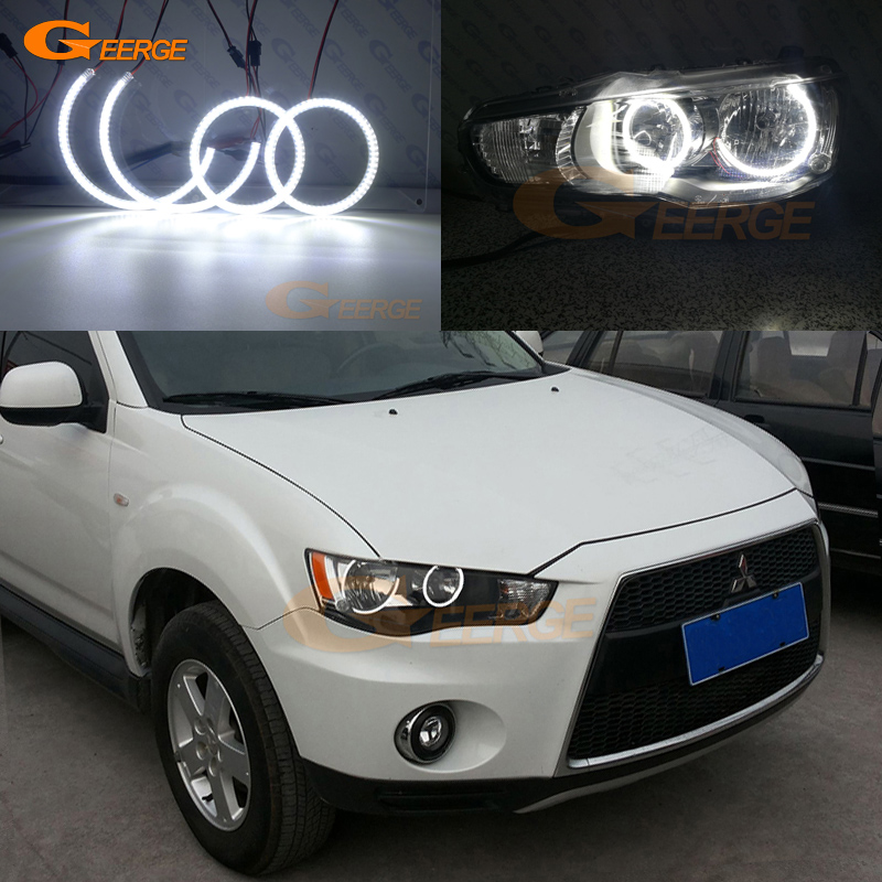For Mitsubishi Outlander 2010 2011 Halogen headlight perfect compatible Ultra bright illumination smd led Angel Eyes kit