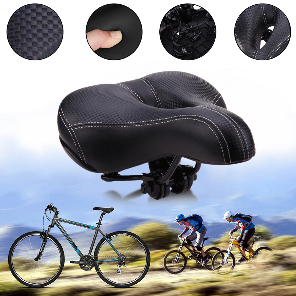 Wide Sponge Bicycle Saddle Seat Mat Cushion Soft Sports Road Mountain Bike Bicycle Riding Cycling Saddle Bicycle Accessories comfortable cycling saddle seat wide bicycle seat mountain bike sponge big cushion ride bicycle accessories