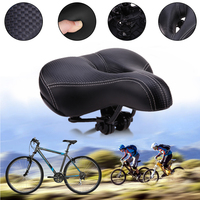 Wide Sponge Bicycle Saddle Seat Mat Cushion Soft   Sports   Road Mountain Bike Bicycle Riding Cycling Saddle Bicycle   Accessories