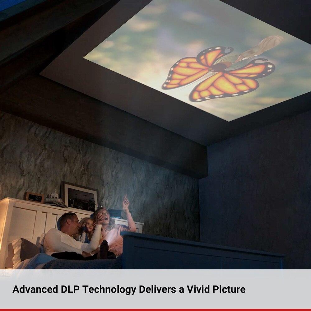 Anker Nebula Capsule Smart Portable Wi Fi Mini Projector Pocket Cinema with DLP 360 Speaker 100