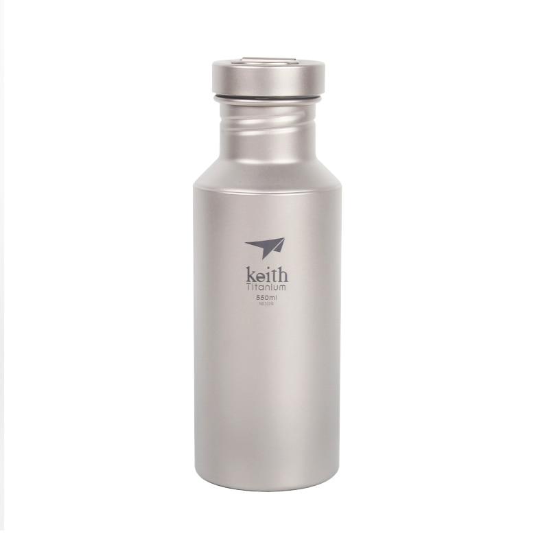 Bouteille d'eau de Sport en titane pour Camping en plein air Keith ultraléger 500ml Drinkware avec manteau de bouteille
