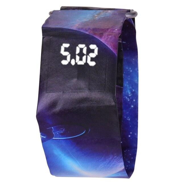 c077a61102e Papel criativo Relógio LED Relógio À Prova D  Água Papel Tyvek Pulseira  Relógios Digitais Relógio