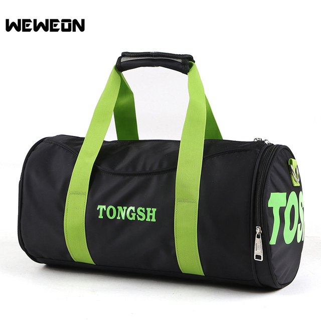 Cylinder Fitness Gym Bag Waterproof Sport Football Bag Outdoor Travel Duffel  with Independent Shoes Bag Basketball Training Bags
