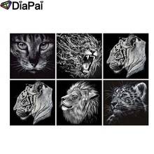 DIAPAI Diamond Painting 5D DIY Full Square/Round Drill Ink painting animal 3D Embroidery Cross Stitch Decor Gift