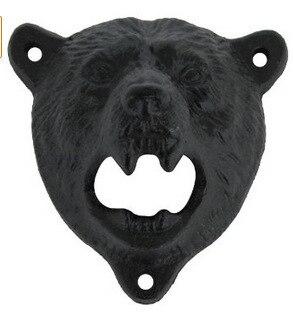 Cast Iron Bear Shaped Hang Wall Mounted Bottle Opener 7