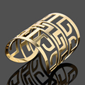 Women Wide Cuff Bracelet China Style Fashion Bangles Pulseiras Gold color Hollow Out  Bracelet Jewelry