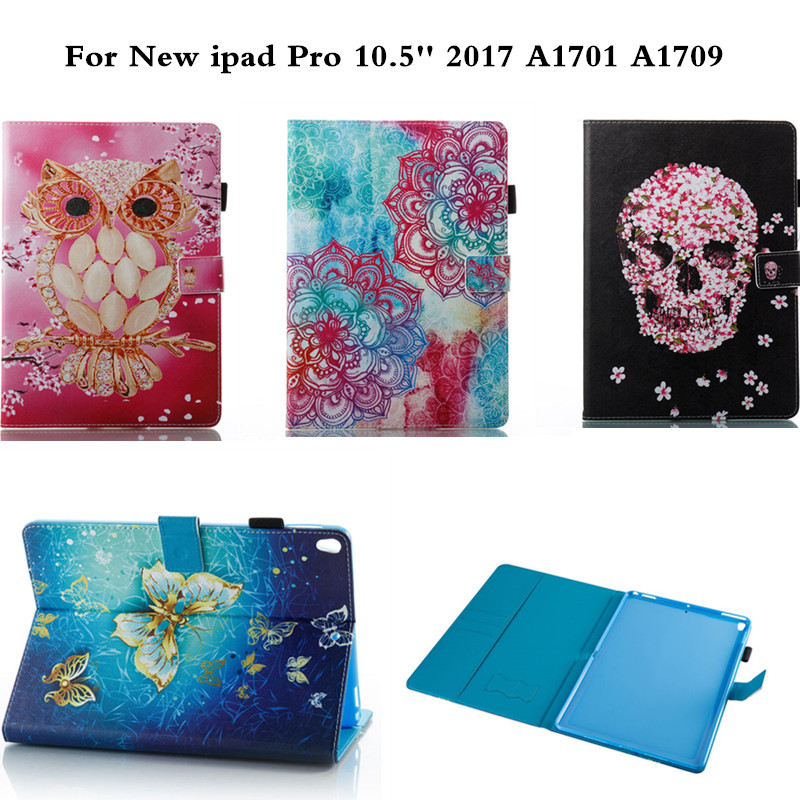 Gold Butterfly PU Leather Case For New iPad Pro 10.5 inch 2017 Flip Protective Cover For iPadPro 10.5 A1701 A1709  Coque Fundas high quality pu leather cover for new ipad pro 10 5 case tablets protective skin wake sleep card slots for a1701 a1709 gifts