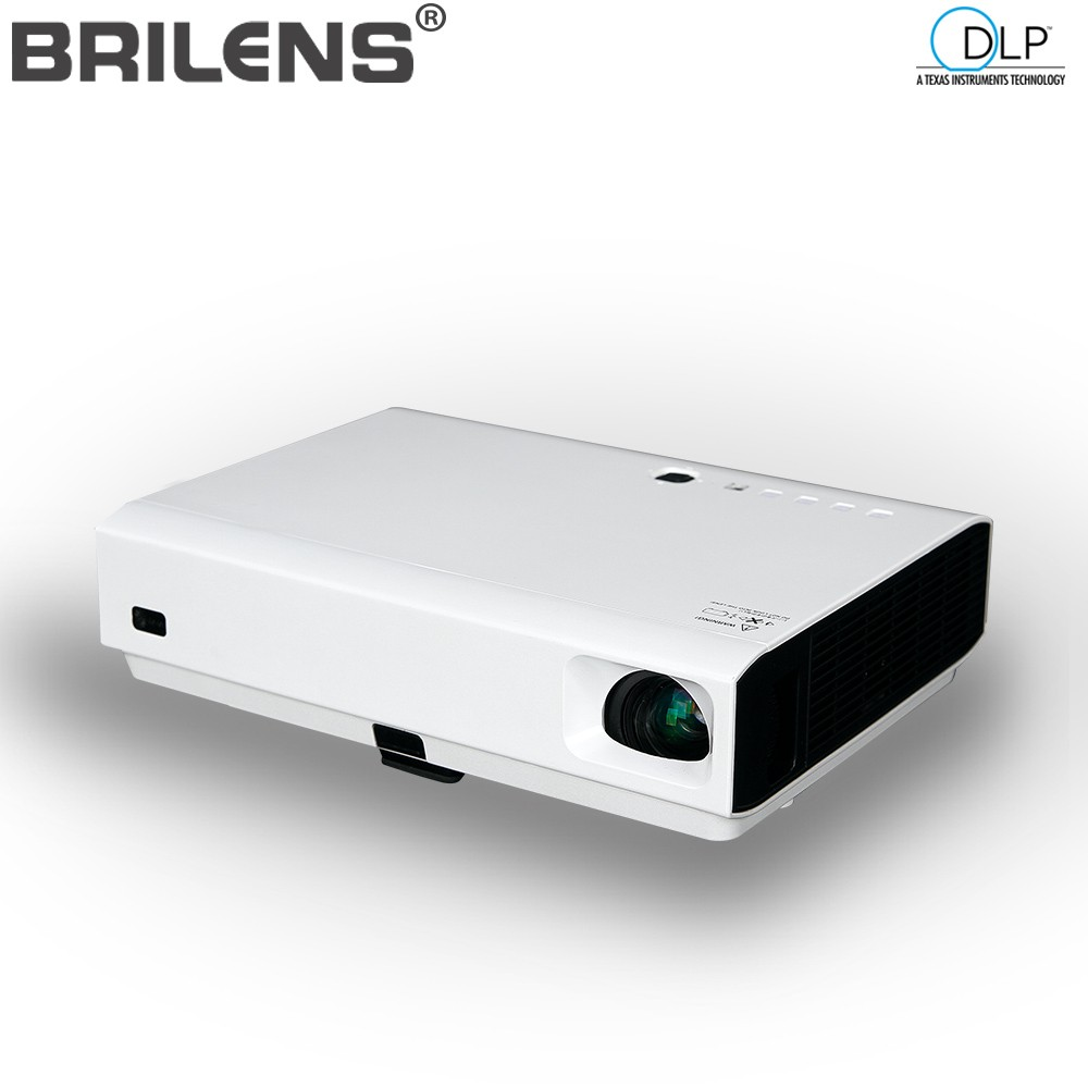 Brilens LS1300 3500 lumens Entertainment Home Theater Laser Projector 3 LED Led Lights High lumens Beamer Outdoor <font><b>23</b></font> Languages