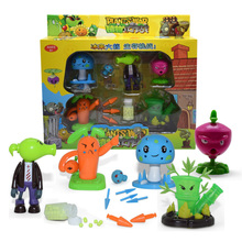 Big Plants Vs Zombies Anime Figure Model Toy Shooter High Quality Launch Toy For Kids Gift plants vs zombies shooter kernel pult educational toy gift toy with zombie 3 ball
