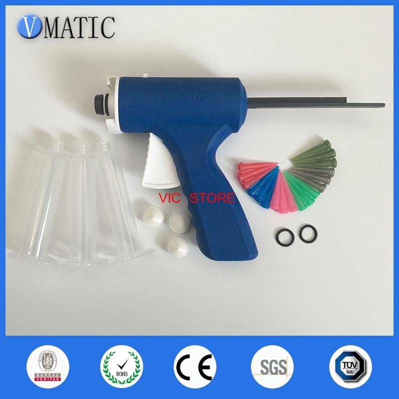 2017 Quality 10cc/ml Manual UV Glue Syringe Dispenser Dispensing Gun VCJQ-10CC-L4 30ml manual syringe gun dispenser dispensing single liquid glue gun 30cc common 1pcs 30cc cones 5pcs dispensing tips