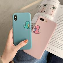 Case for iphone X XR XS MAX Cute cartoon dinosaur pattern soft silicon cover 7 6 6S 8Plus mobile phone back case capa