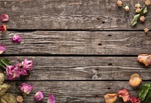 Laeacco Old Wooden Board Texture Flowers Petals Photography Background Customized Photographic Backdrops For Photo Studio