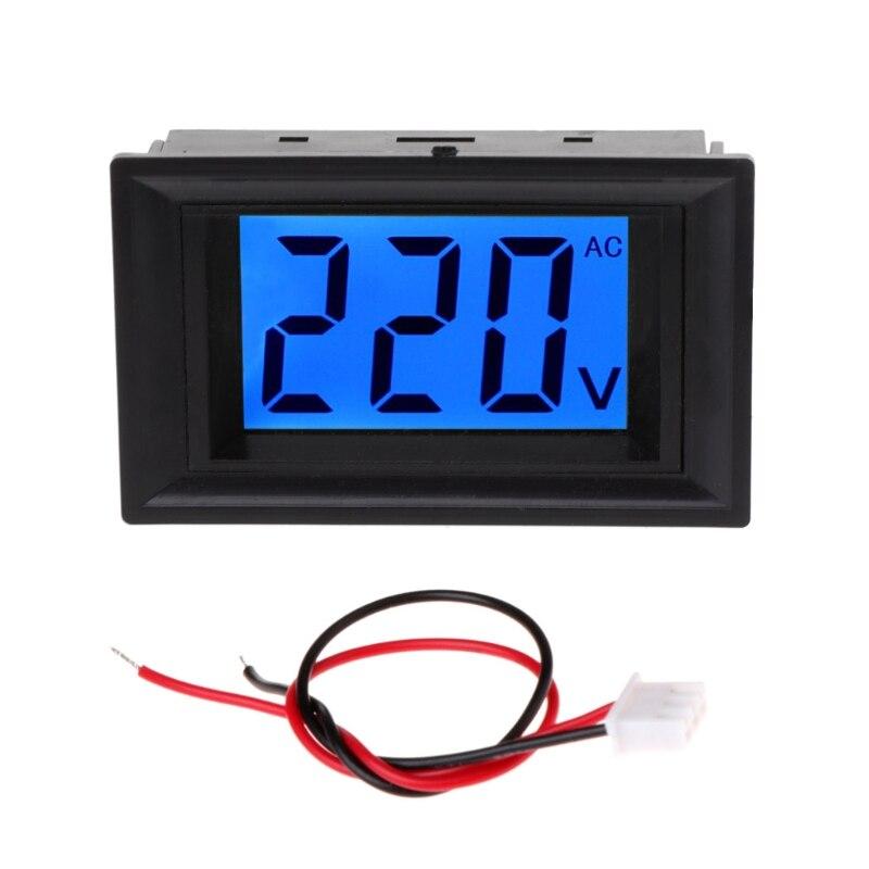 Digital AC Voltmeter Voltage Meter 80-500V Volt Tester Power Monitor LCD Display