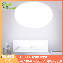 LED Panel Lamp LED Ceiling Light 36W 24W 18W 13W 9W 6W AC85-265V round ceiling light Surface Modern led Lamp for indoor lighting dc24v exquisite design 18w rgb full color led panel lighting 300x600mm dream gift for you room ceiling decorating 2pcs lot