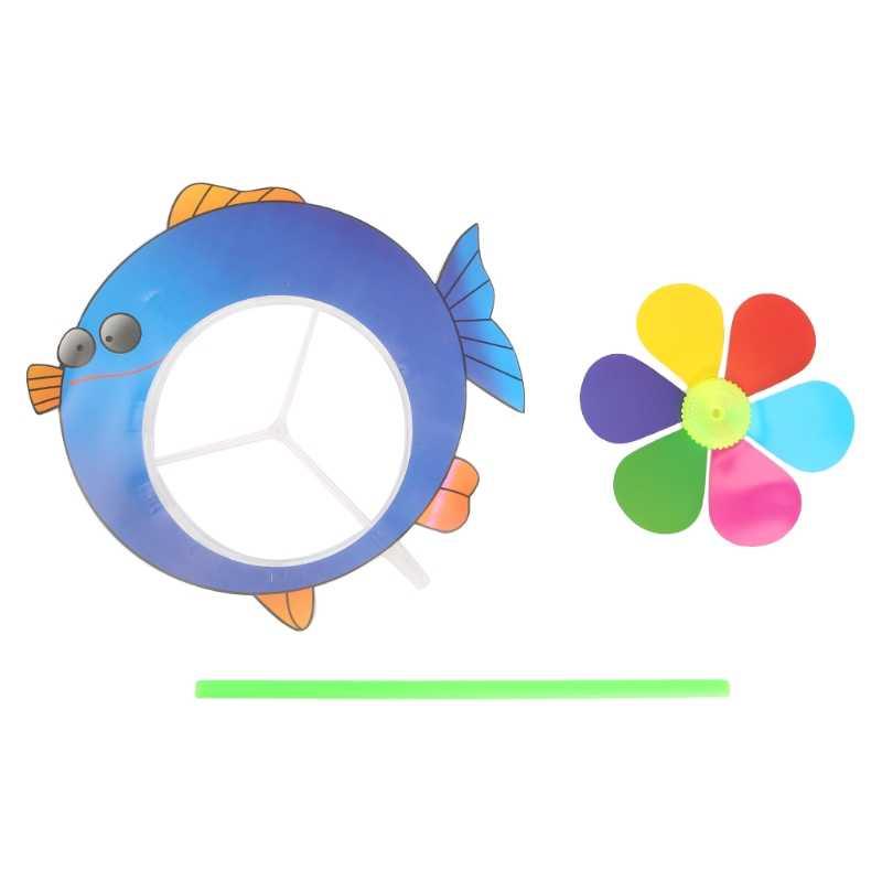 Мультфильм ветряная мельница с животными ветер Спиннер Pinwheel для дома, сада, двора Декор детские игрушки