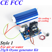 Pinuslongaeva CE EMC LVD FCC 25g/h Quartz tube type ozone generator Kit ozone module china supplier