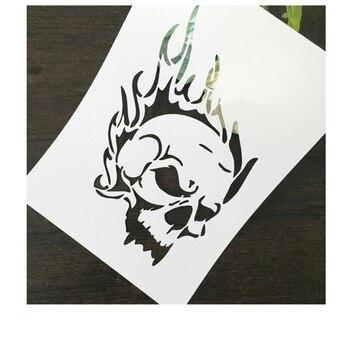 Czaszka głowy narzędzie do wycinanek album diy maskujący spray malowany szablon szablon do rysowania laserowo wycinany szablon KW7072201
