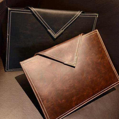 Envelope Clutch Bag A4 Thin File Package Data Office Folder Business Portfolio PU Leather Women Banquet